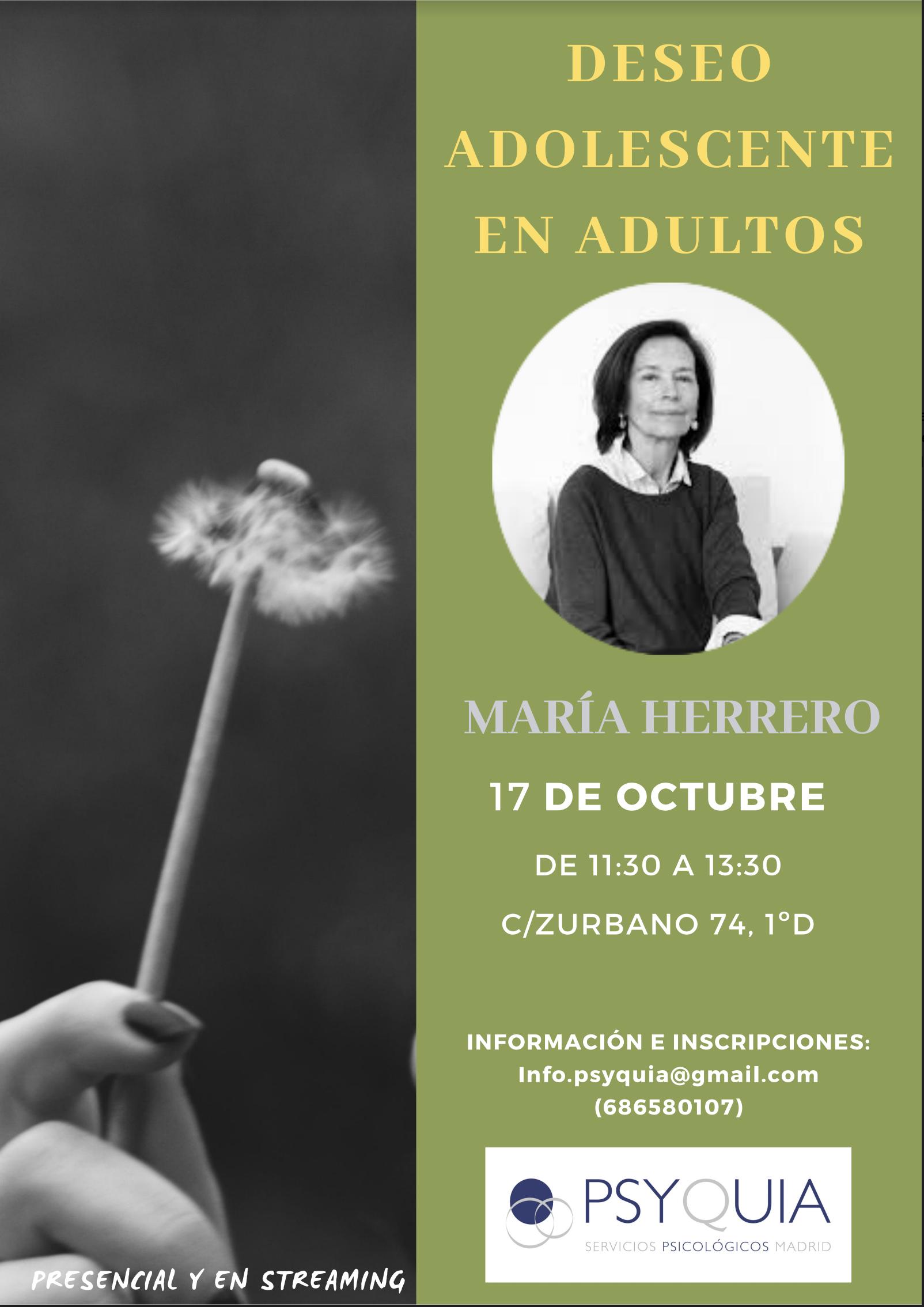 """Lección 1: El deseo adolescente en el adulto.II Ciclo """"Del deseo al goce""""2020/2021- MARÍA HERRERO."""