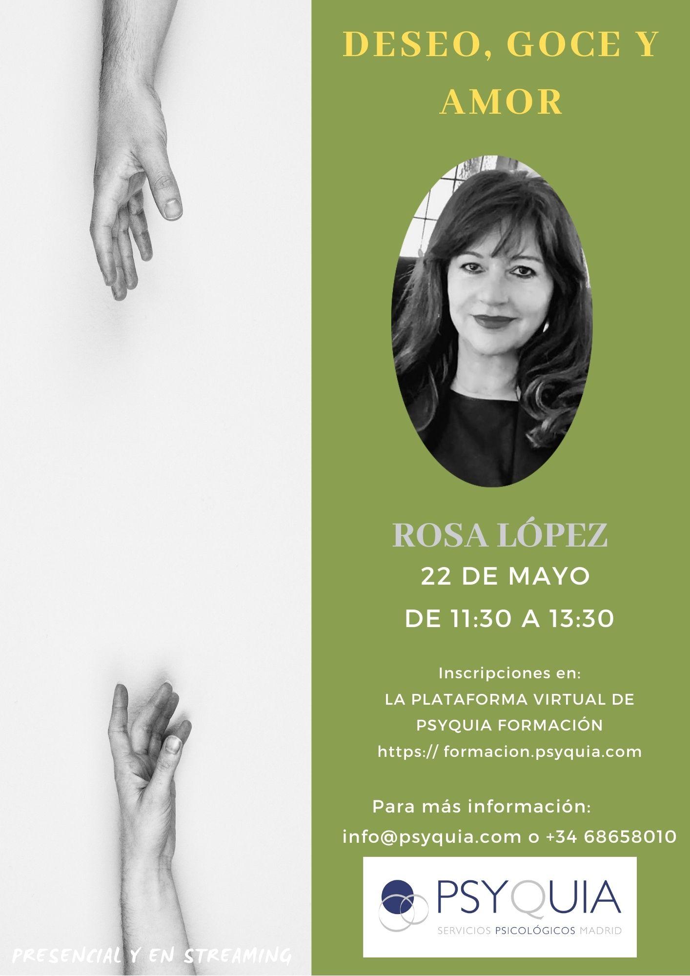 """Lección 8. Deseo, goce y amor. II CICLO """"DEL DESEO AL GOCE""""-  Rosa López"""