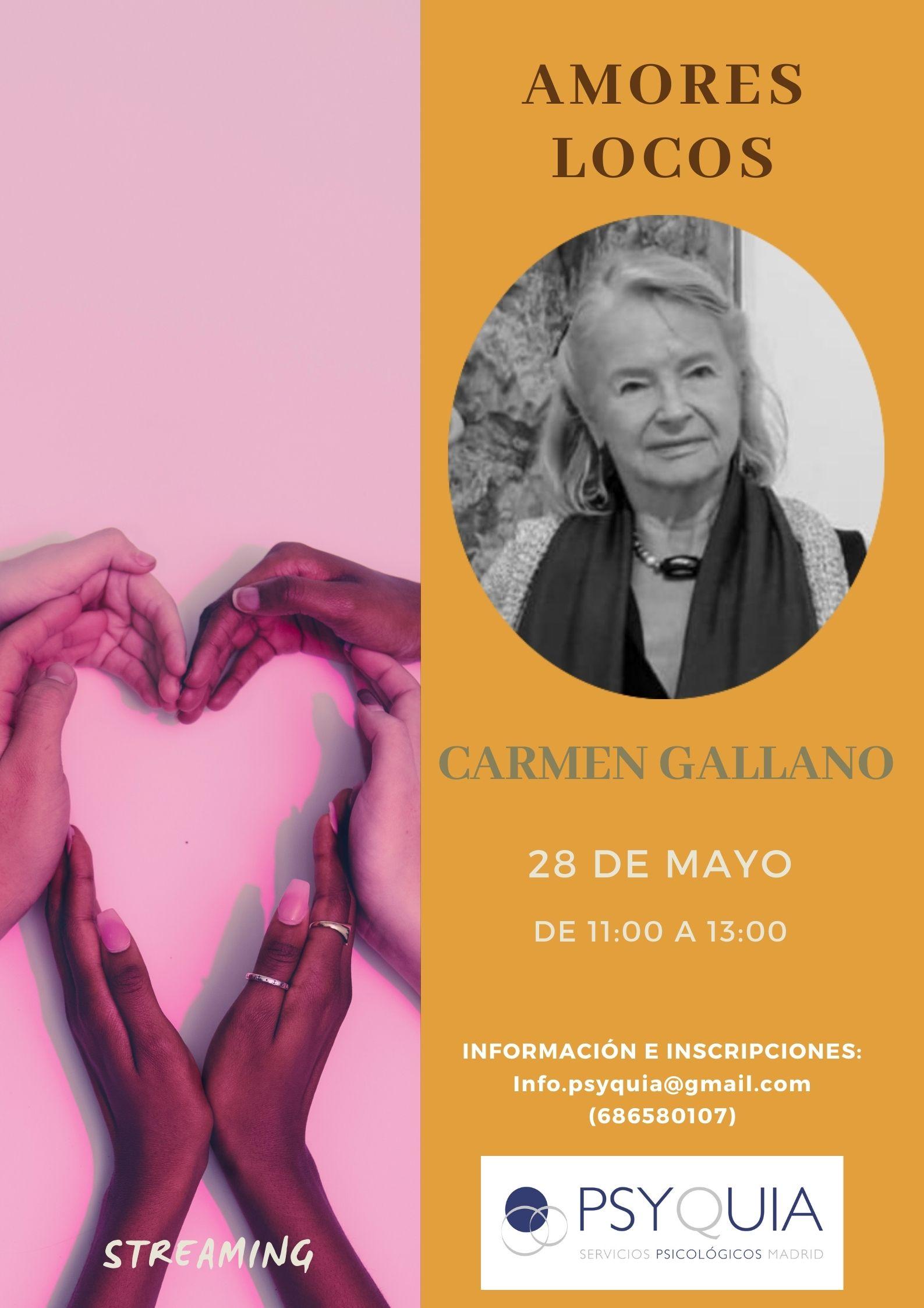 """28/05/22 Lección 8 """"Amores locos"""". III Ciclo: Las caras de la psicosis – Carmen Gallano"""