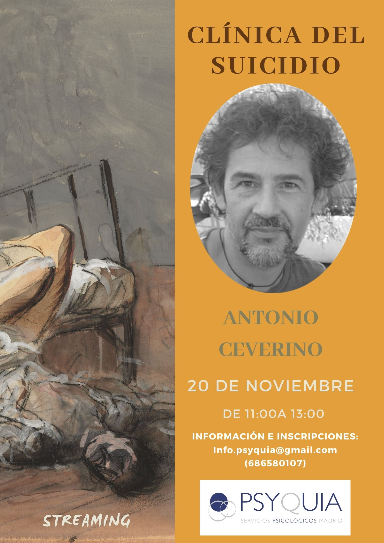 """20/11/21 Lección 2 """"Clínica del suicidio"""". III Ciclo: Las caras de la psicosis- Antonio Ceverino"""